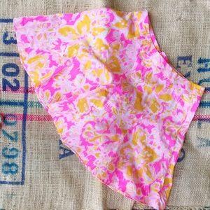 Lilly Pulitzer Pink, White, & Orange Circle Skirt